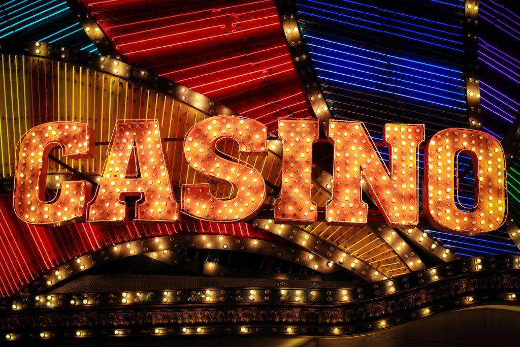 casino panneau lumineux